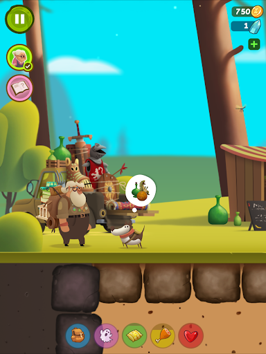 Diggy Dog - adventure time game for Android screenshot