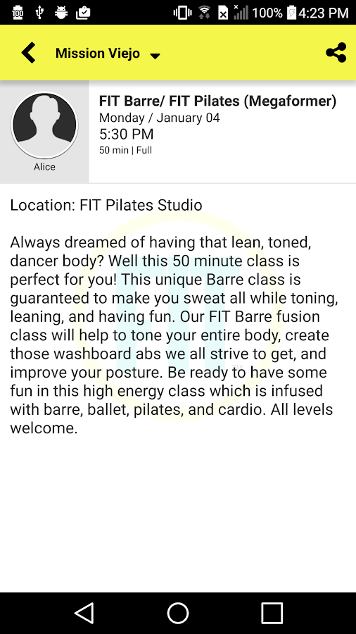 Fit Pilates Studio- screenshot