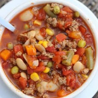 Instant Pot Beef Vegetable Soup.