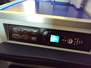 Photo: Seat control and entertainment system