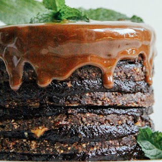 Double Chocolate Layer Cake [Vegan, Raw, Gluten-Free]