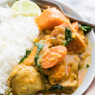 Slow Cooker Sweet Potato Chicken Curry (Freezer to Crock Pot).