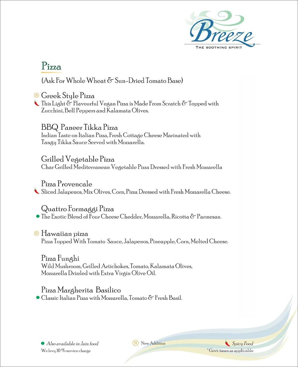 Breeze Lounge menu 9