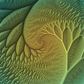 Innie and Outie by Lyle Hatch - Illustration Abstract & Patterns ( tree, 3d, tessellations, embossed, engraved, mandelbulb 3d, 3-d, fractal, three dimensional )
