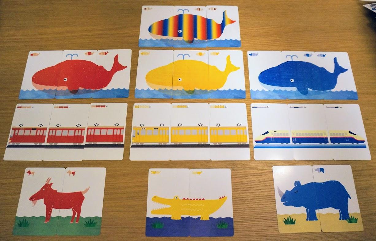 でんしゃクジラ:カードの種類