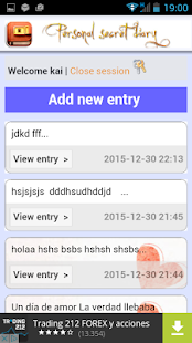 Personal Diary Password- screenshot thumbnail