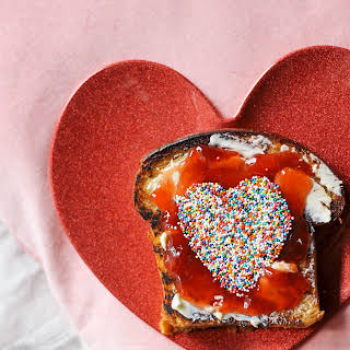 Valentine's Day Toast Breakfast in Bed.