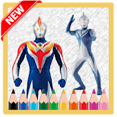 New Coloring Game of Ultraman Cosmos Free