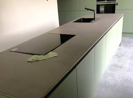 Project beton-cire - Keukenafwerking Korbeek-Lo