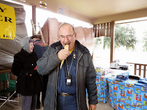 Photo: Ron Pasley eating a Tomalie    HALS Public Run Day 2014-1115 RPW