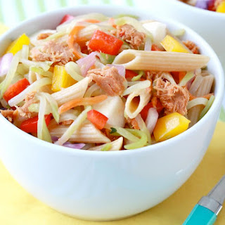 Sweet & Spicy Tuna Penne Pasta Salad
