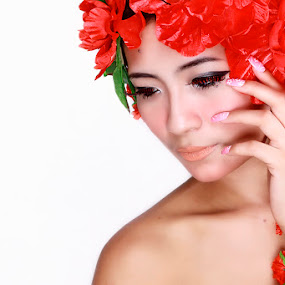 Princess of Flowers by Adiie Winata - People Portraits of Women ( fashion, beauty, women )