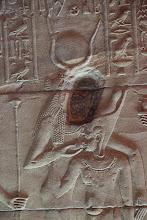 Photo: Isis temple at Philae - sanctuary - Isis suckling Pharaoh ?