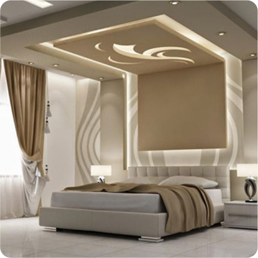 Bedroom Ceiling Pop Carpet Colors For Bedroom Bedroom Lighting Bedroom With Brown Accent Wall: Ceiling Design
