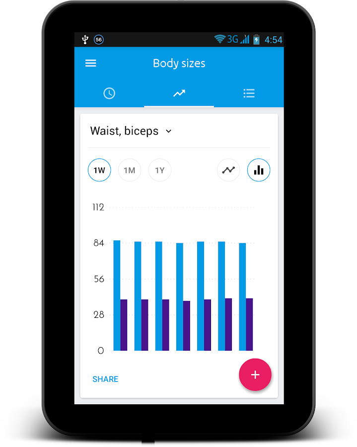 Body Measurement Tracker- screenshot