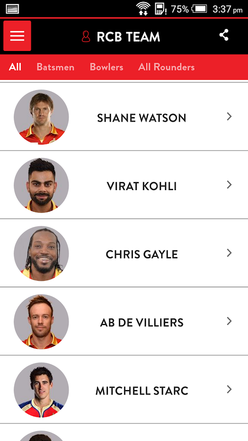 Official RCB App- screenshot
