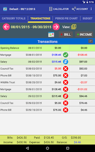 MoBill Budget and Reminder- screenshot thumbnail