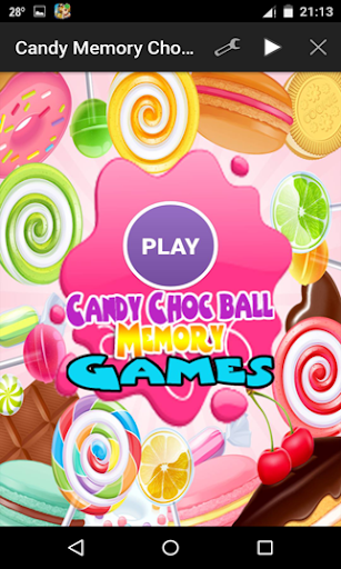 Candy Choc Ball Memory Game