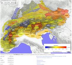 Photo: Alptherm-Vorhersage. Den am schlechtesten vorhergesagten blauen Teil (Mittelbünden) haben wir an diesem Tag elegant umrundet.