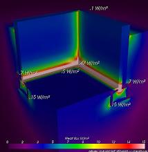 Photo: thermal bridge ground floor slab - heat flux - AnTherm http://antherm.eu
