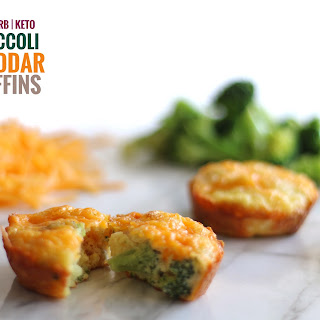 Low Carb Broccoli Cheddar Muffins.