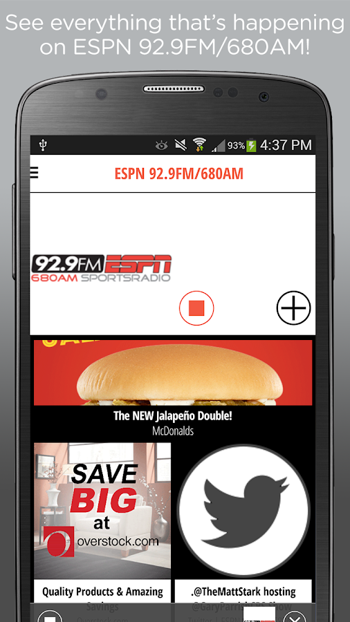 92.9 FM ESPN- screenshot