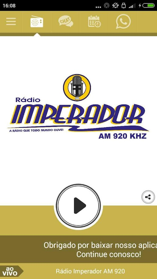 Rádio Imperador AM 920- screenshot