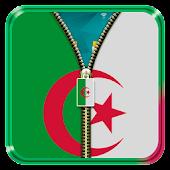 Algeria Flag Zipper LockScreen APK for Bluestacks