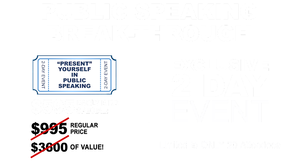 Advanced Public Speaking Workshop