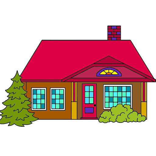 House Color by Number - Adult Coloring Book Pages Icon