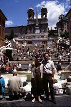 Photo: 21 giugno 1996 ai piedi della scalinata di Trinità dei Monti a Roma