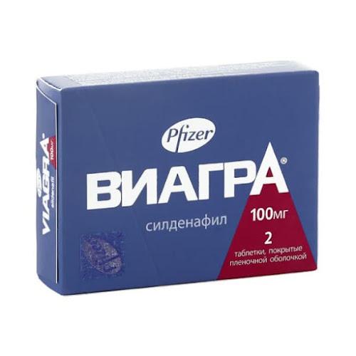Виагра таб. п/о плён. 100мг №2