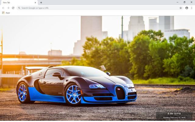 Bugatti Veyron New Tab Theme