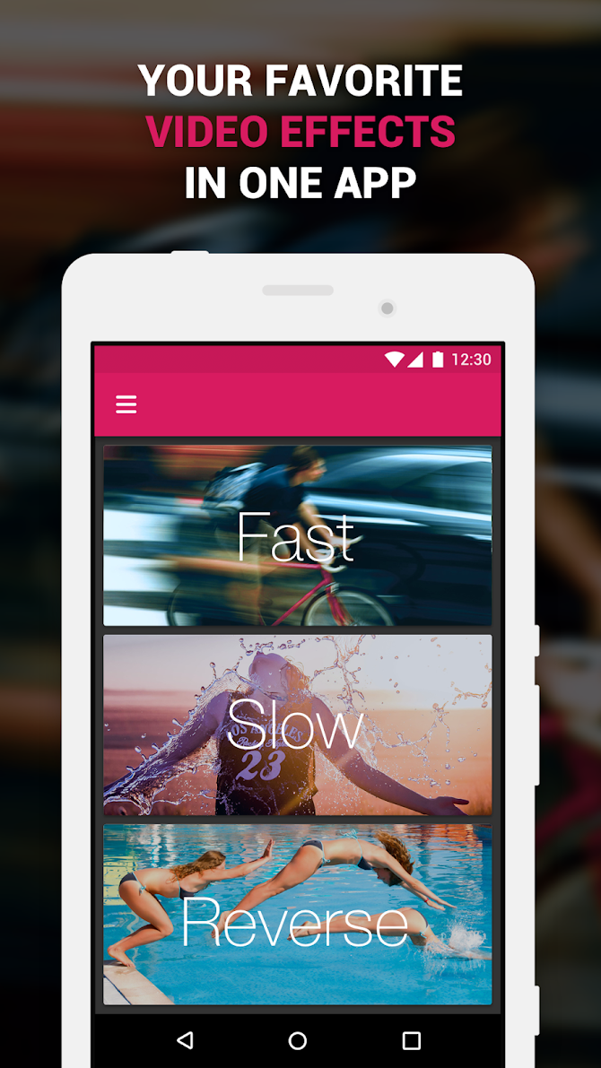 ✅ Efectum – Reverse Cam, Slow Motion, Fast Video Android 1