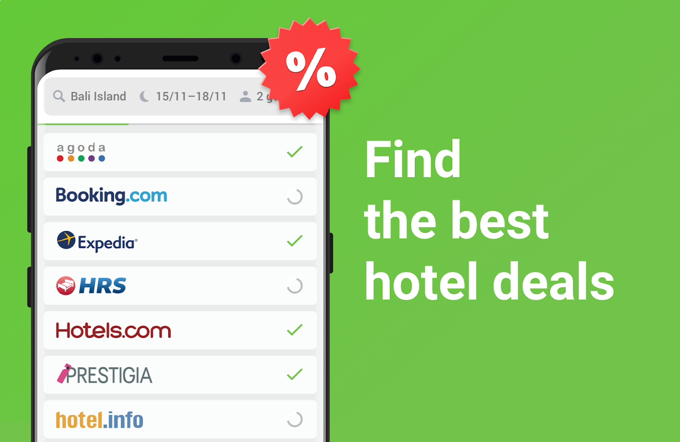 Cheap hotel deals and discounts — Hotellook- screenshot