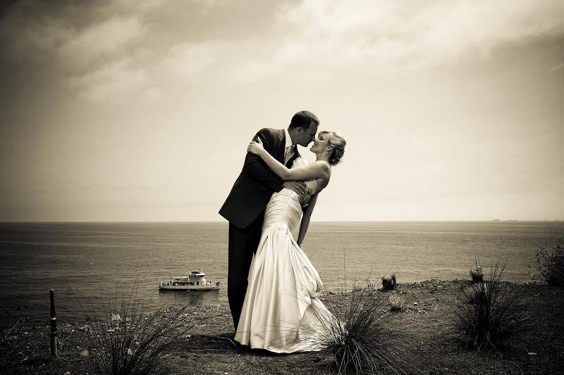 Photo: Wedding Kiss by the Ocean