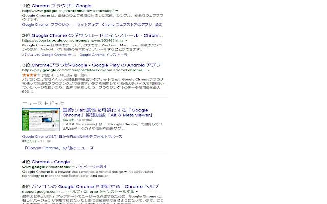 検索結果のランク表示
