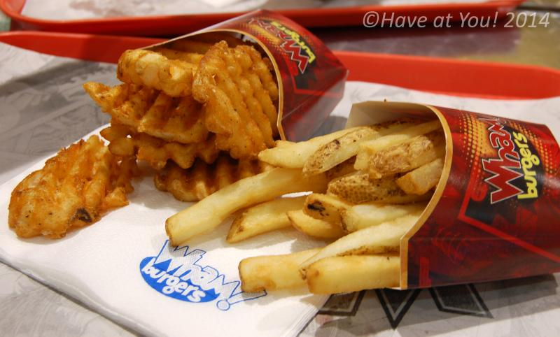 two types of fries available at Wham Burger