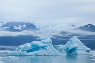 Photo: Icebergs floating in Alsek Lake. Glacier Bay National Park, AK.