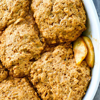 Apple Cobbler with Browned Butter Biscuits