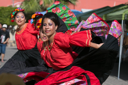 Dancers-2.jpg - Dancers in the plaza just outside the historic mission in Loreto.