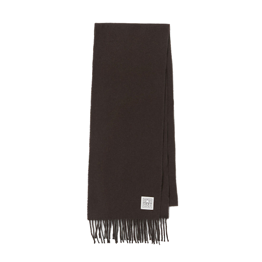 TOTÊME BOVA WOVEN SCARF WITH FRINGES
