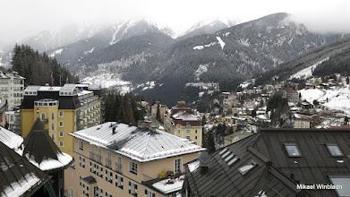 Photo: Vy från balkongfönstret på Hotell Gisela över Bad Gastein.
