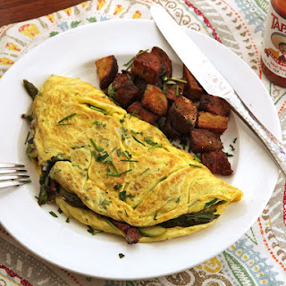 Diner-Style Asparagus, Bacon, and Gruyère Omelette for Two