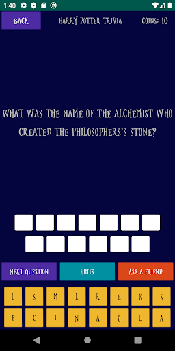 Quiz about the World of Harry Potter android2mod screenshots 1