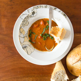 Roasted Tomato Soup with Harissa.