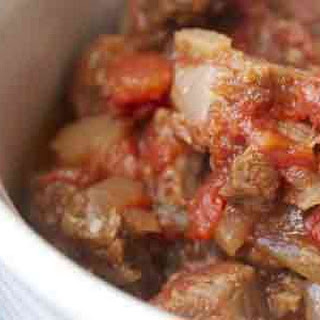 Slow Cooker Steak and Tomatoes.