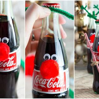 Cherry Coke Poke Cake and Easy Coke Bottle Reindeer