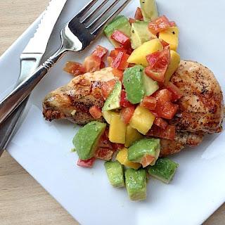 Grilled Chicken with Mango & Avocado Salsa