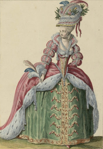Women's apparel under the reign of Louis XVI